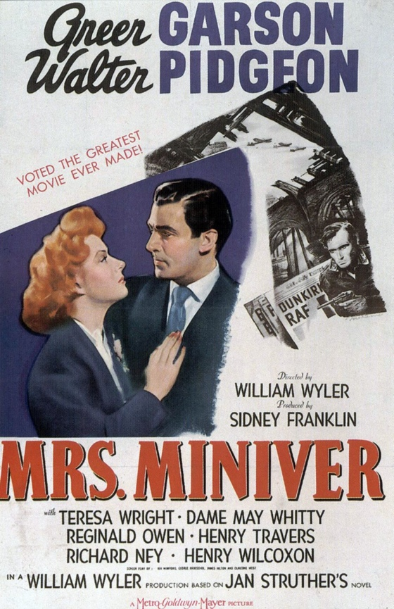 Mrs. Miniver movie poster