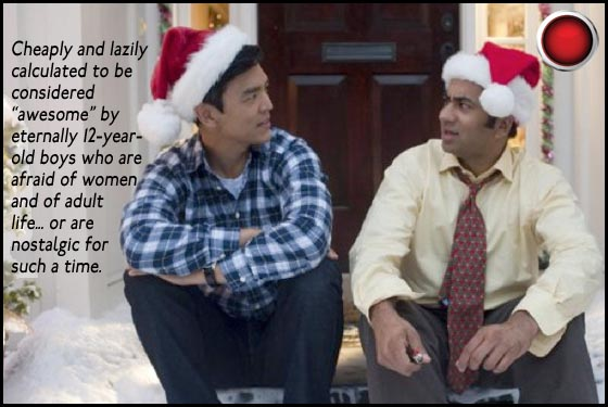 John Cho and Kal Penn in A Very Harold and Kumar 3D Christmas red light