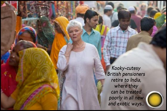 The Best Exotic Marigold Hotel Judi Dench yellow light