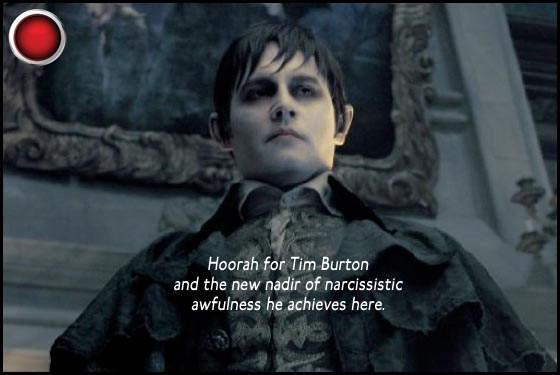 Dark Shadows red light Johnny Depp