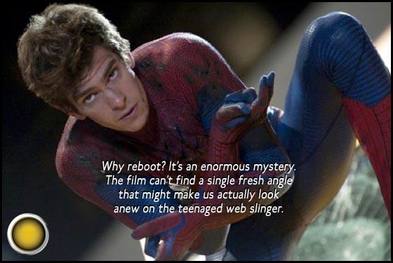 The Amazing Spider-Man yellow light Andrew Garfield