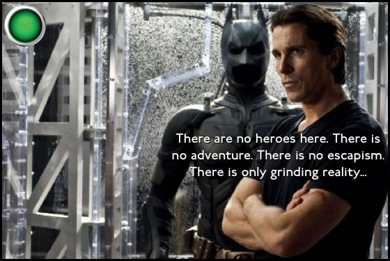 The Dark Knight Rises Christian Bale green light