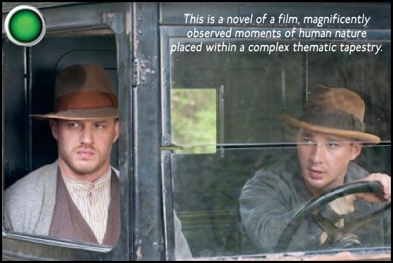 Lawless green light Tom Hardy Shia LaBeouf