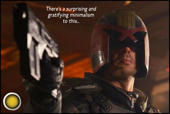Dredd yellow light Karl Urban