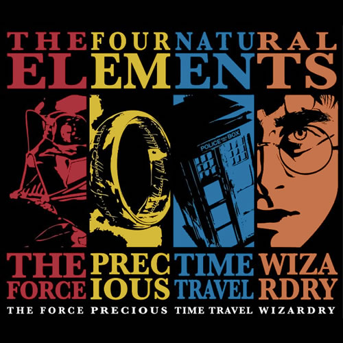 Four Natural Elements Star Wars Harry Potter Doctor Who Lord of the Rings