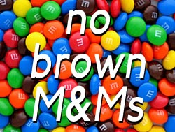 no brown M&Ms