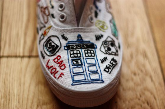 embroidered Doctor Who tennis shoes