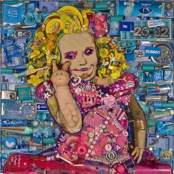 Honey Boo Boo portrait in trash