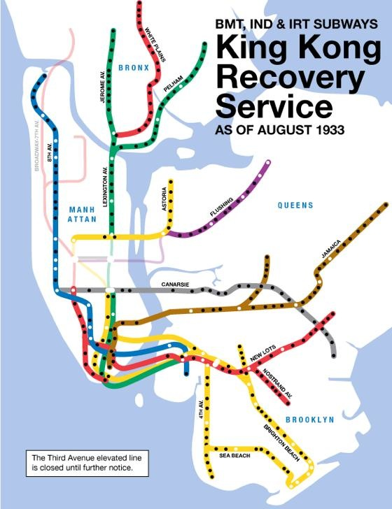 King Kong recovery subway service August 1933