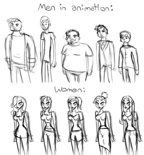 men in animation