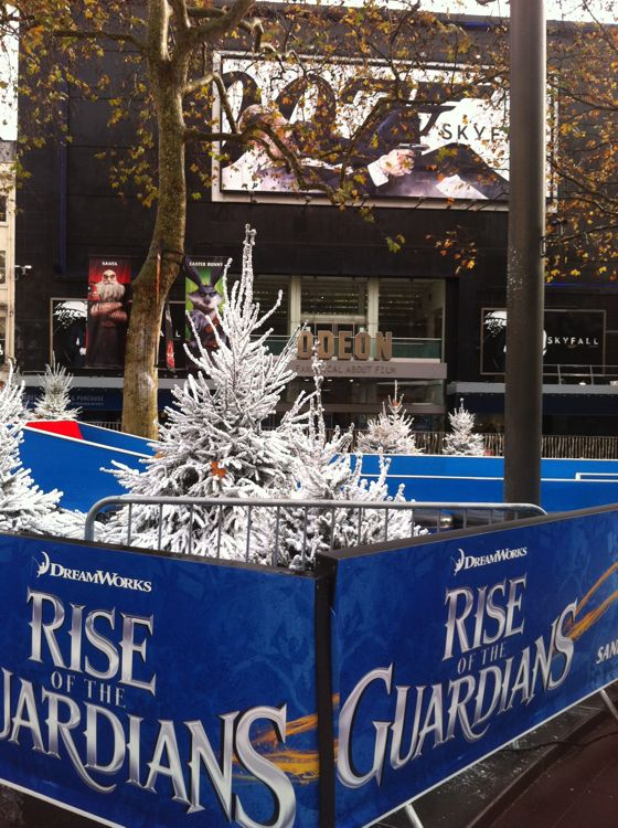 Leicester Square Skyfall Rise of the Guardians