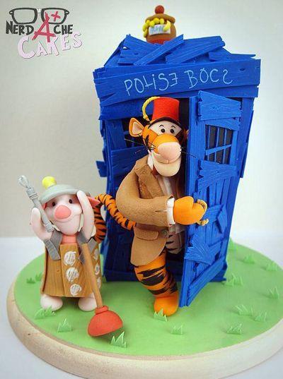 Winnie the Pooh TARDIS cake