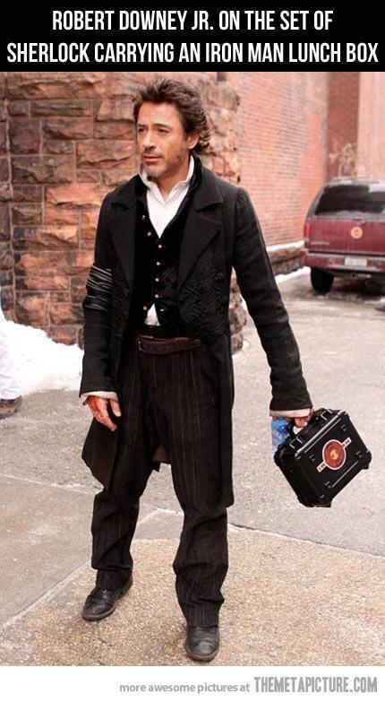 Robert Downey Jr Sherlock Holmes Iron Man