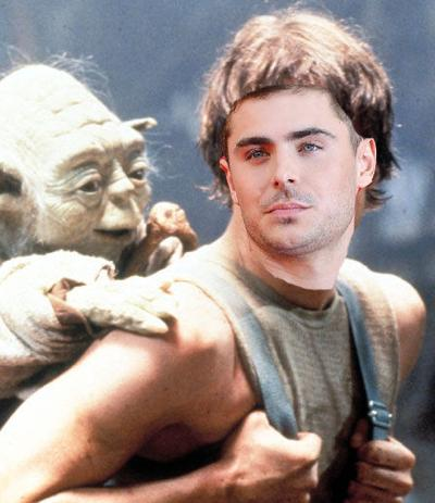 Zac Efron badly Photoshopped as Luke Skywalker