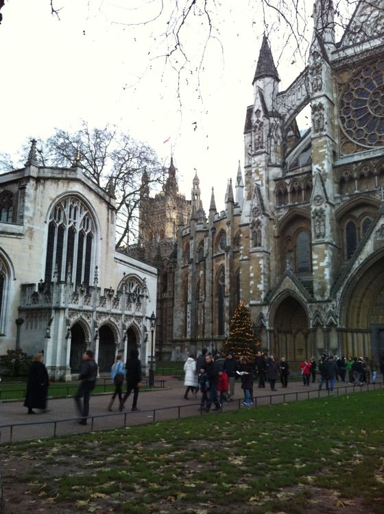 Westminster Abbey Christmas tree