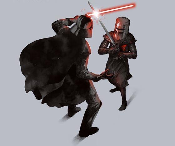 Dark Duel Star Wars Monty Python