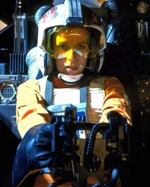 Vivienne Chandler female rebel pilot Star Wars Return of the Jedi