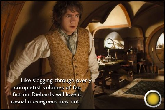 The Hobbit An Unexpected Journey yellow light Martin Freeman