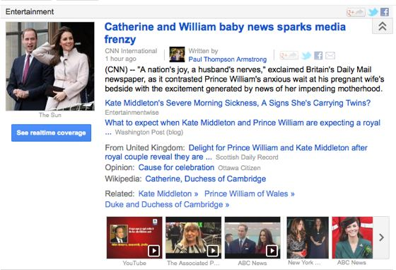 Kate Middleton pregnant Google News