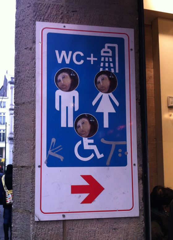 monkey Jesus WC sign
