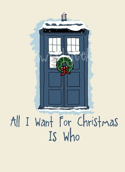 TARDIS Doctor Who Christmas card
