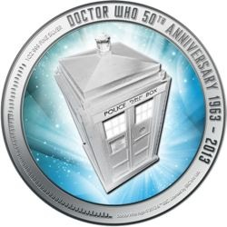 Doctor Who New Zealand coin