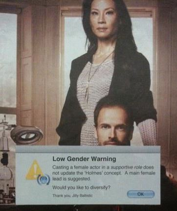 low gender warning Elementary Lucy Liu Jonny Lee Miller