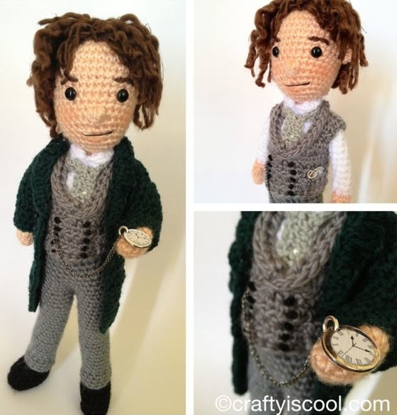 knitted Doctor Who by Allison Hoffman