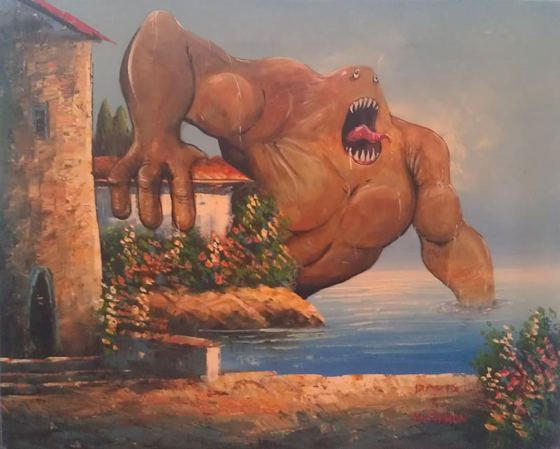 monster thrift store painting
