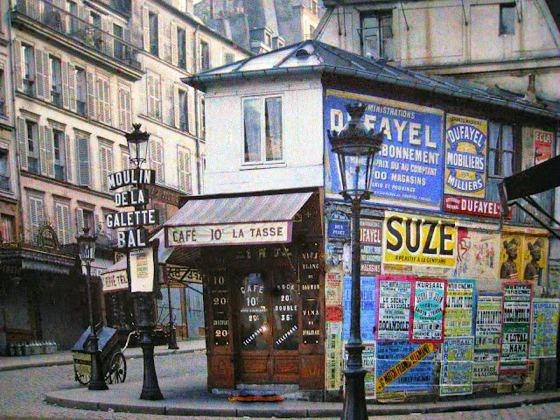 color photo Paris 1914