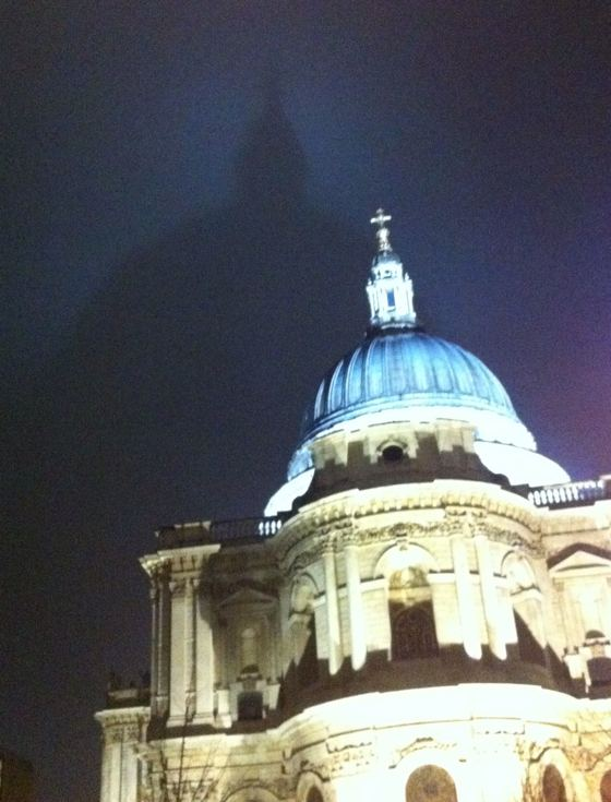 St Paul's Cathedral bat signal