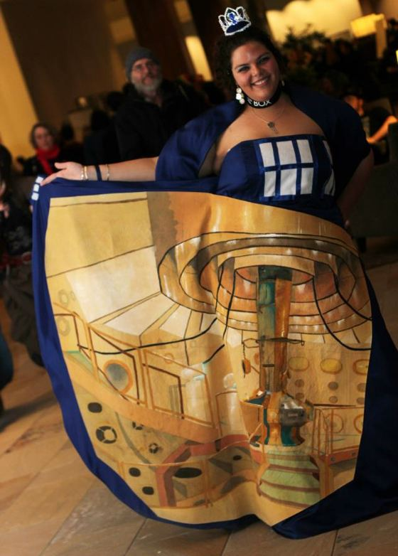 TARDIS Princess dress by Sasha Trabane
