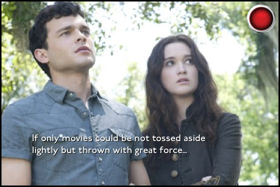 Beautiful Creatures red light Alden Ehrenreich Alice Englert