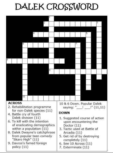 Dalek crossword