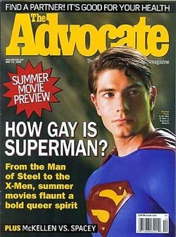 Advocate cover gay Superman