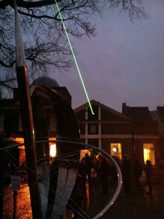 laser meridian Greenwich