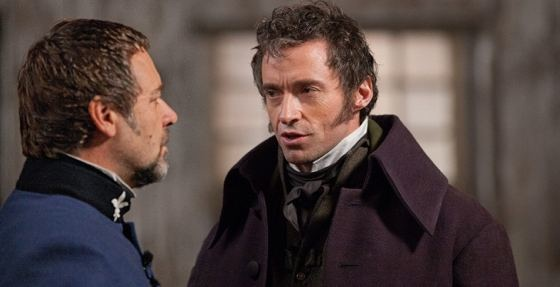 Les Miserables Russell Crowe Hugh Jackman
