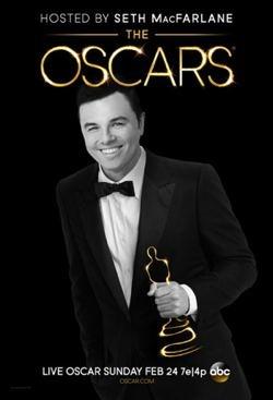 Oscars Seth MacFarlane poster