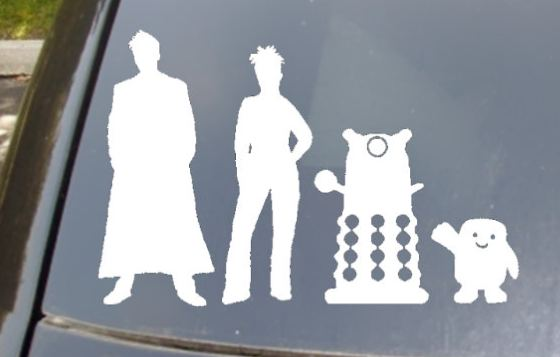 Doctor Who family decal for car