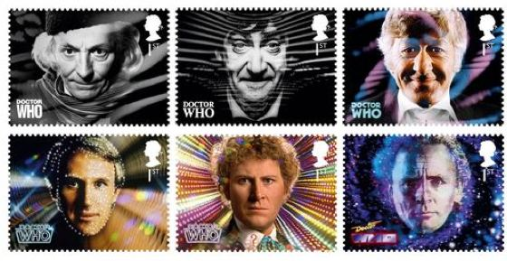 Doctor Who Royal Mail stamps