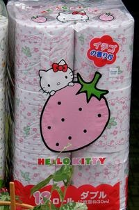 Hello Kitty scented toilet paper