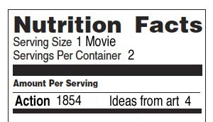 movie nutrition facts