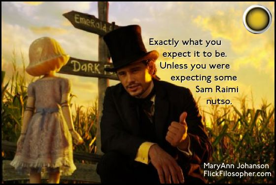 Oz the Great and Powerful yellow light James Franco