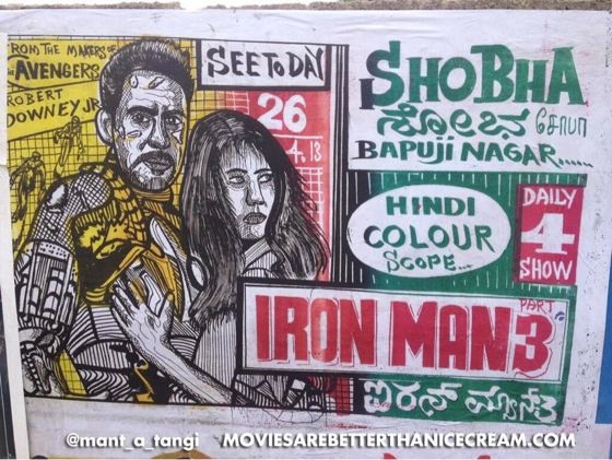 handdrawn Iron Man 3 poster India