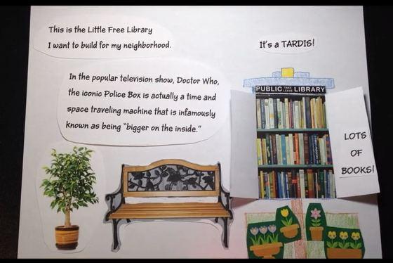 TARDIS little library
