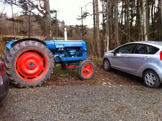 tractor versus car