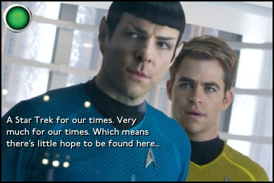Star Trek Into Darkness green light Zachary Quinto Chris Pine
