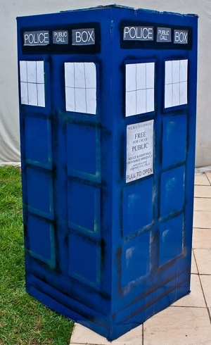cardboard TARDIS Doctor Who