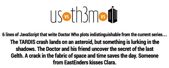 Doctor Who plot generator