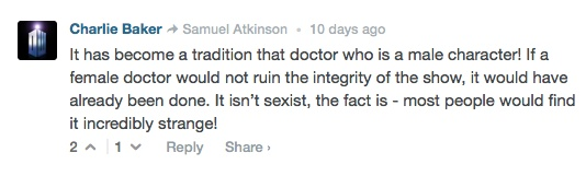 sexist Doctor Who fans